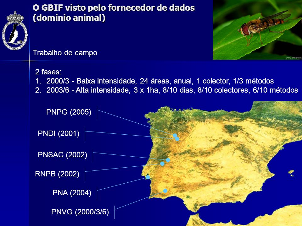 O GBIF visto pelo fornecedor de dados (domínio animal)