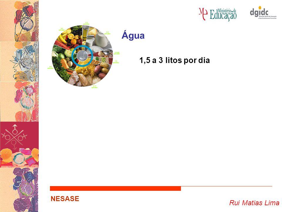 Água 1,5 a 3 litos por dia Rui Matias Lima NESASE