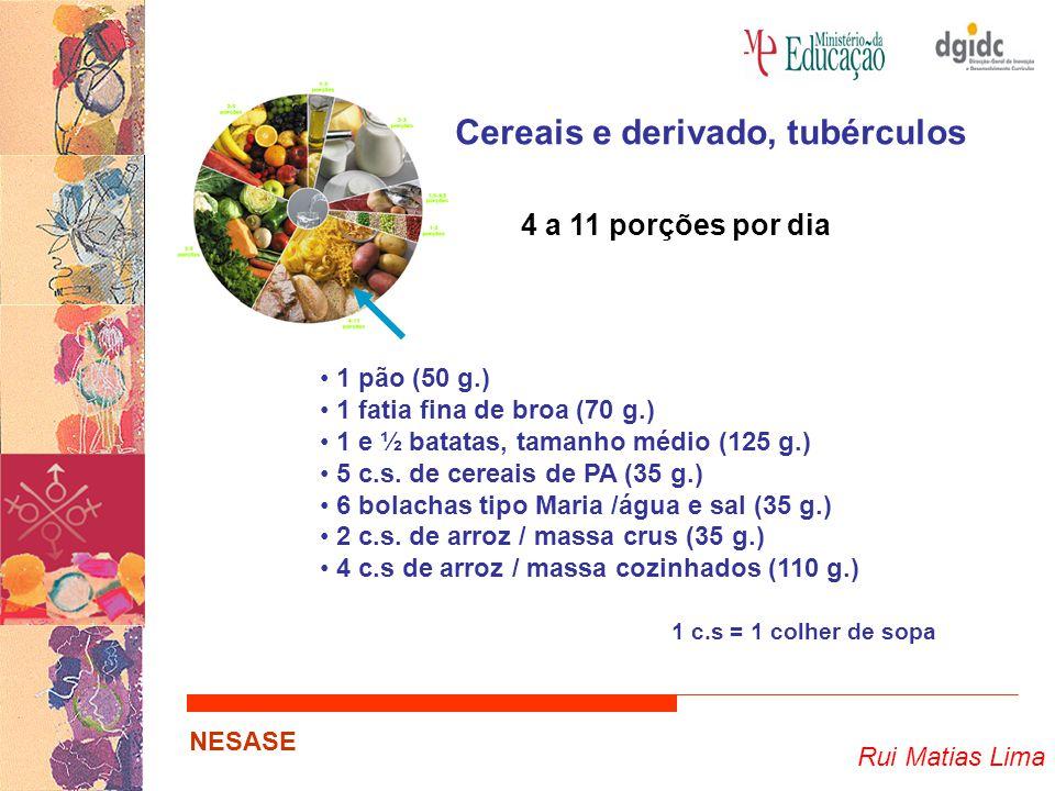 Cereais e derivado, tubérculos