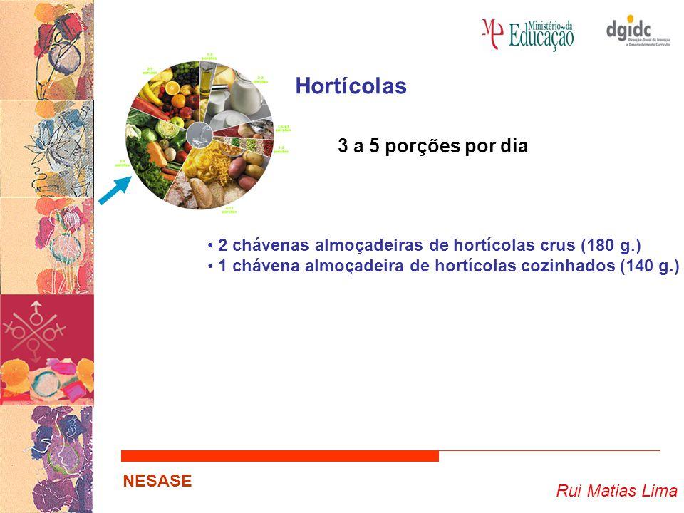 Hortícolas 3 a 5 porções por dia