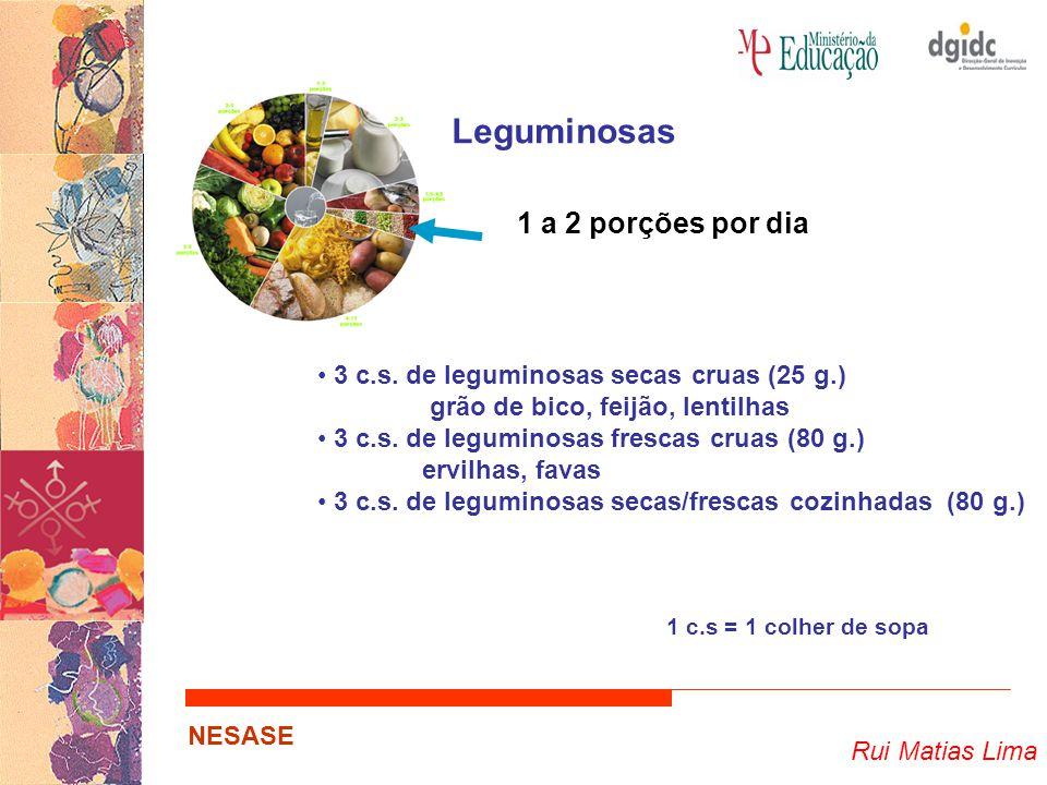Leguminosas 1 a 2 porções por dia