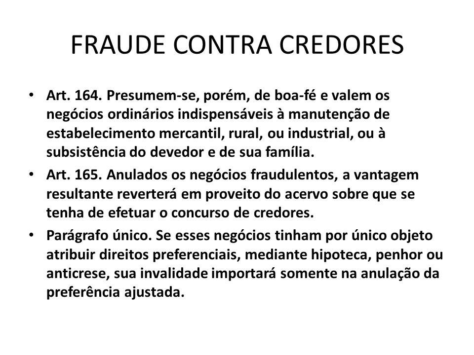 FRAUDE CONTRA CREDORES