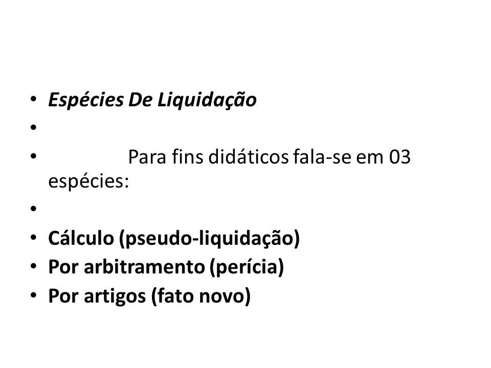 Espécies De Liquidação