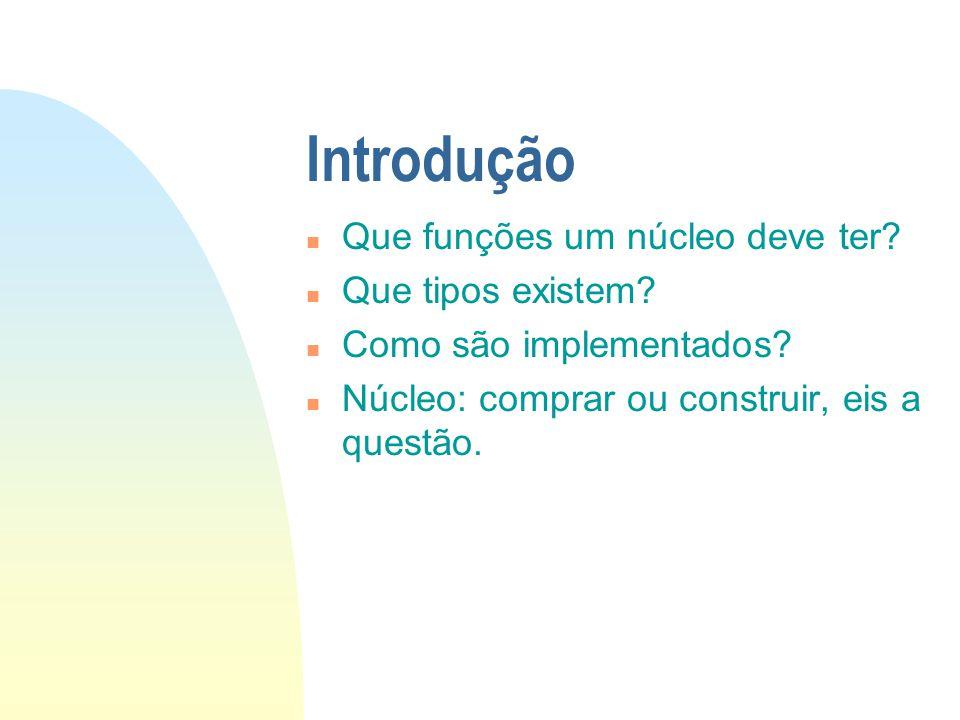 Introdução Que funções um núcleo deve ter Que tipos existem