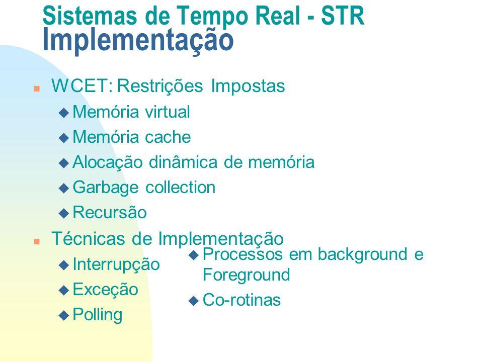 Sistemas de Tempo Real - STR Implementação