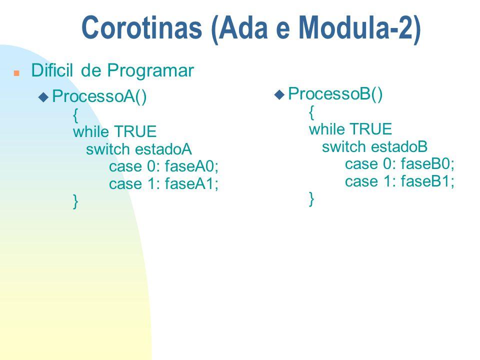 Corotinas (Ada e Modula-2)