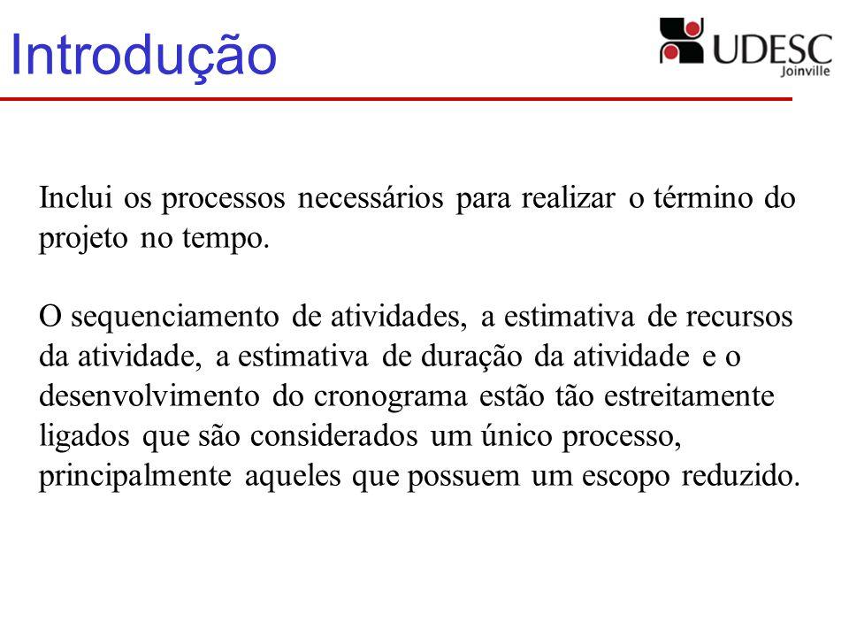Introdução Inclui os processos necessários para realizar o término do projeto no tempo.