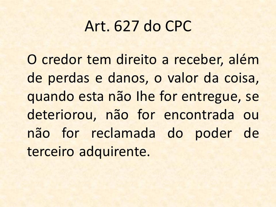 Art. 627 do CPC