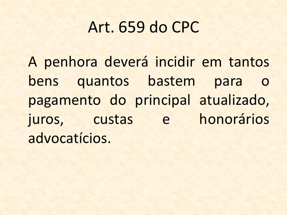 Art. 659 do CPC