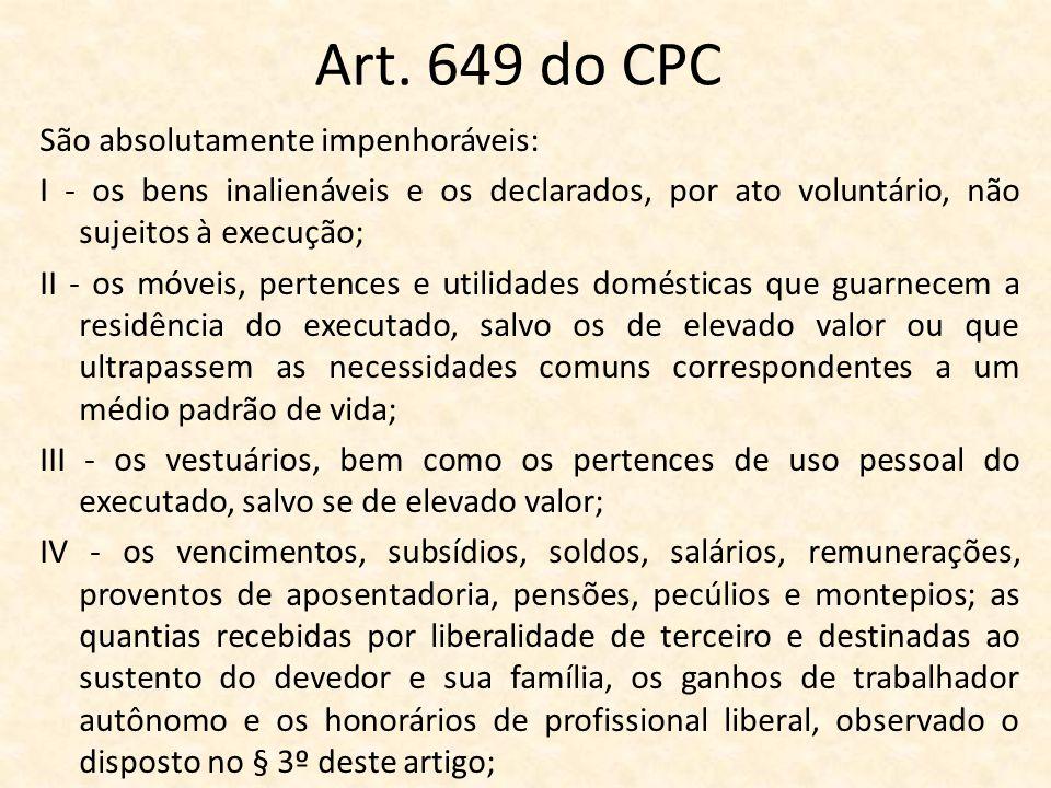 Art. 649 do CPC