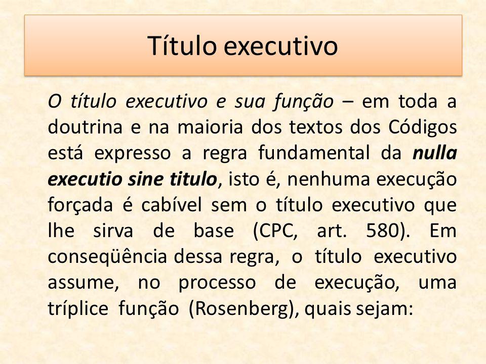 Título executivo
