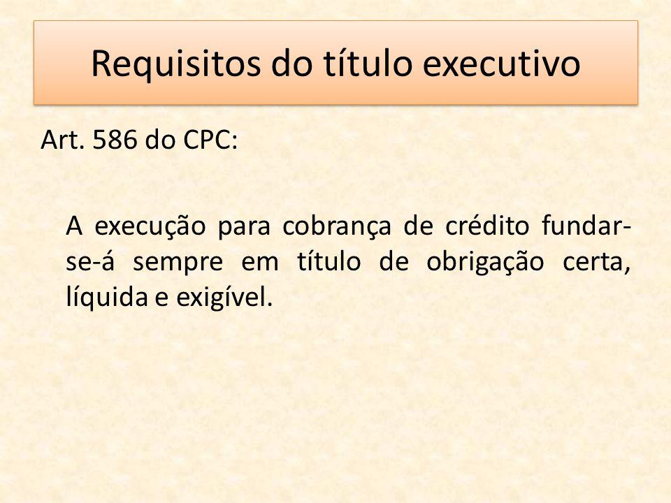 Requisitos do título executivo