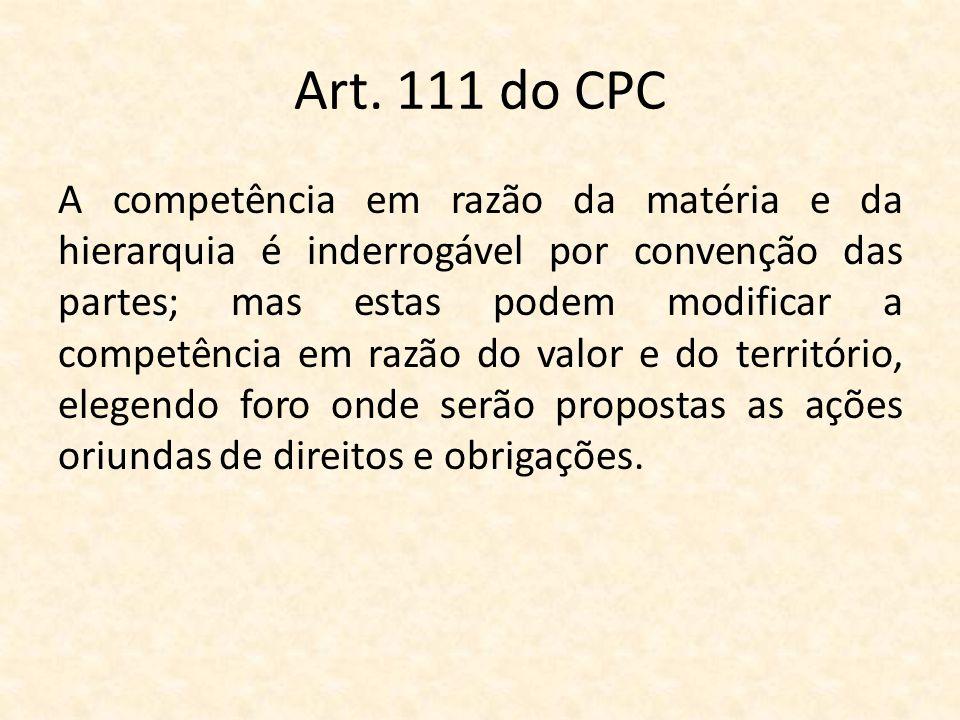 Art. 111 do CPC