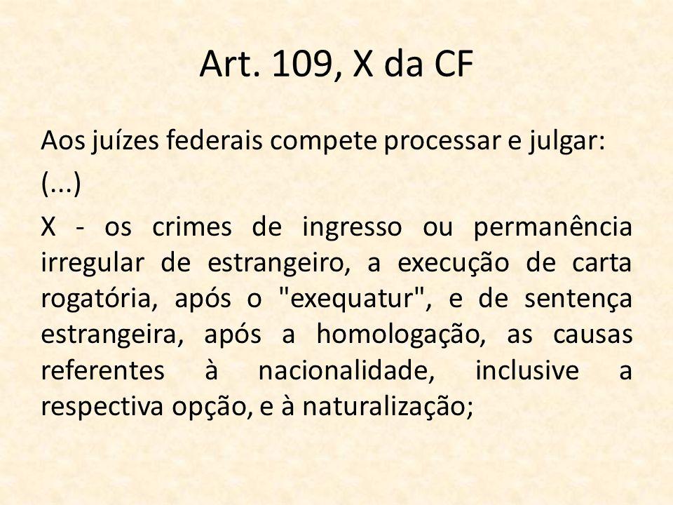 Art. 109, X da CF