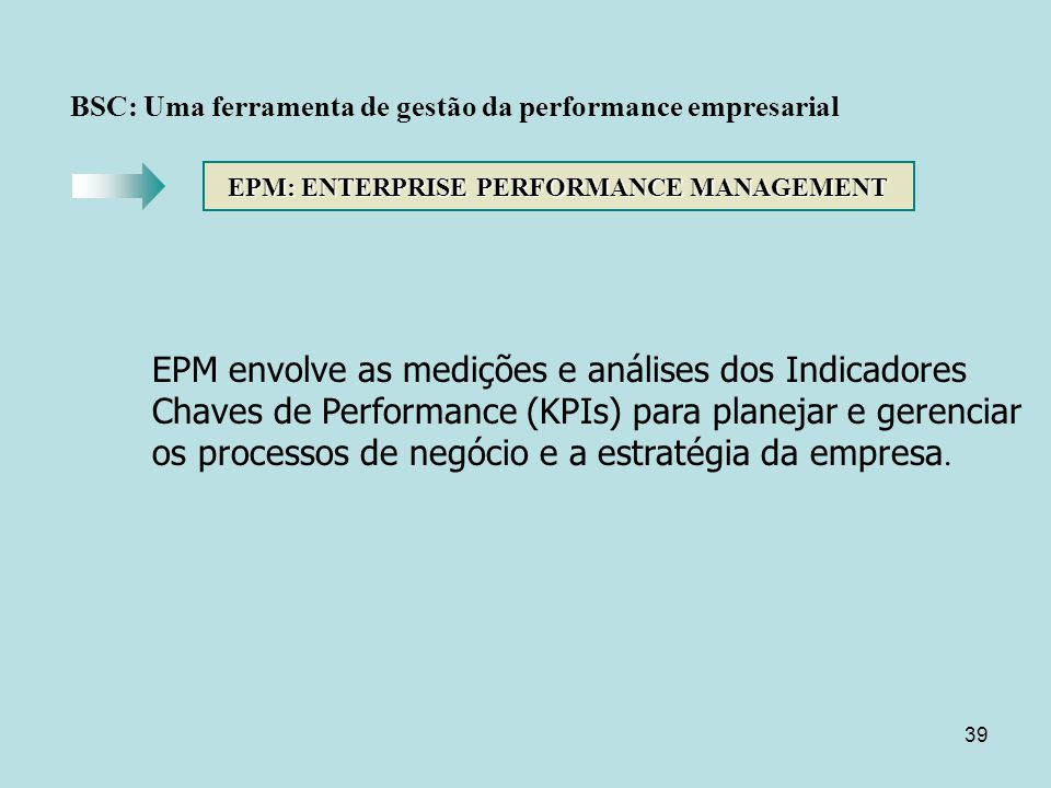 EPM: ENTERPRISE PERFORMANCE MANAGEMENT