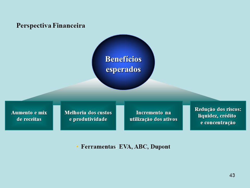 Benefícios esperados Perspectiva Financeira