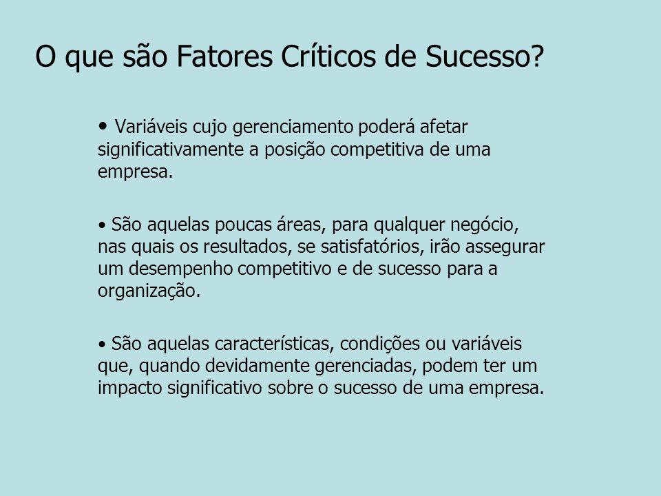 O que são Fatores Críticos de Sucesso