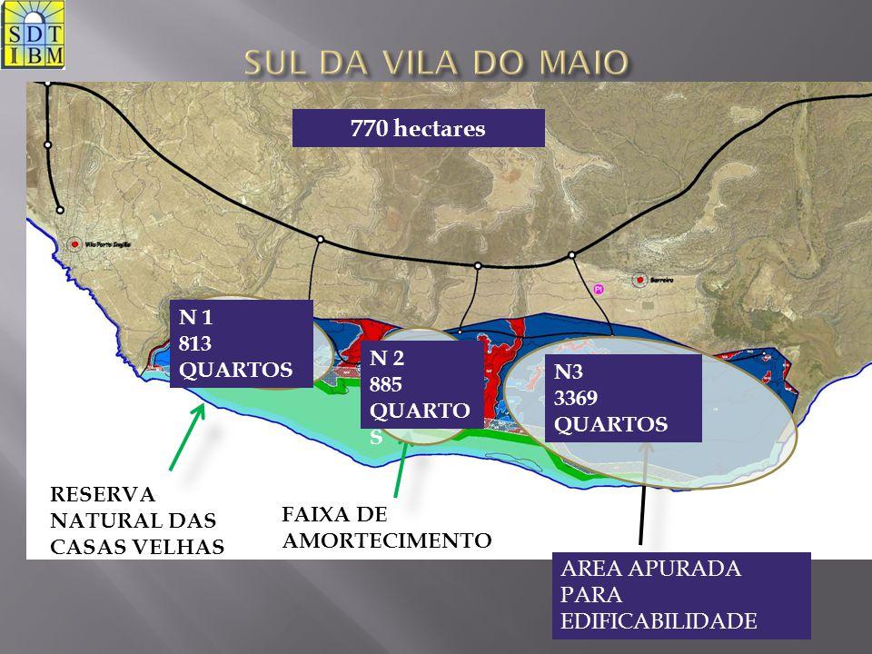 SUL DA VILA DO MAIO 770 hectares N 1 813 QUARTOS N 2 885 QUARTOS N3