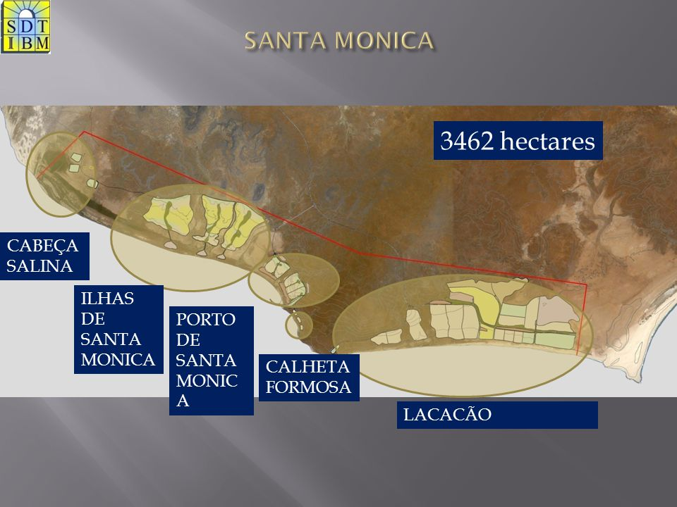 3462 hectares SANTA MONICA CABEÇA SALINA ILHAS DE SANTA MONICA