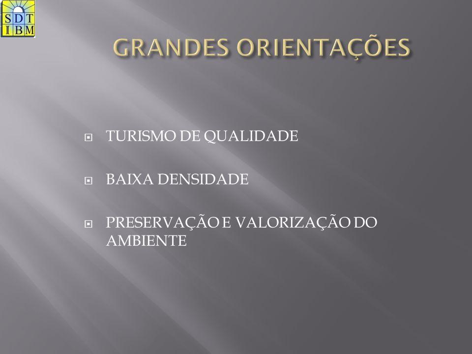 GRANDES ORIENTAÇÕES TURISMO DE QUALIDADE BAIXA DENSIDADE