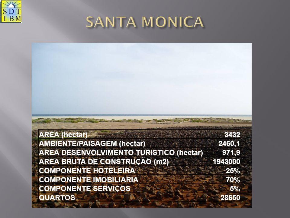 SANTA MONICA AREA (hectar) 3432 AMBIENTE/PAISAGEM (hectar) 2460,1