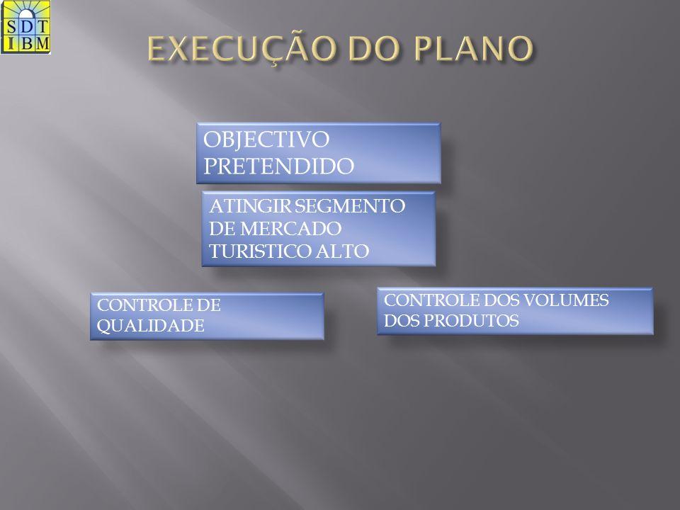 EXECUÇÃO DO PLANO OBJECTIVO PRETENDIDO