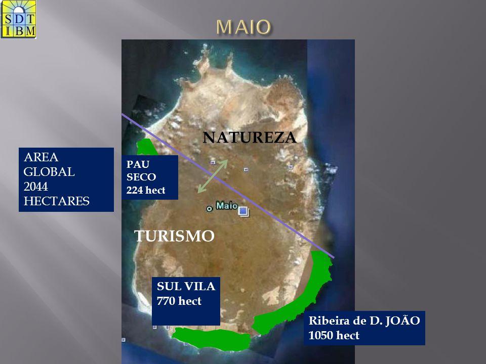 MAIO NATUREZA TURISMO AREA GLOBAL 2044 HECTARES SUL VILA 770 hect