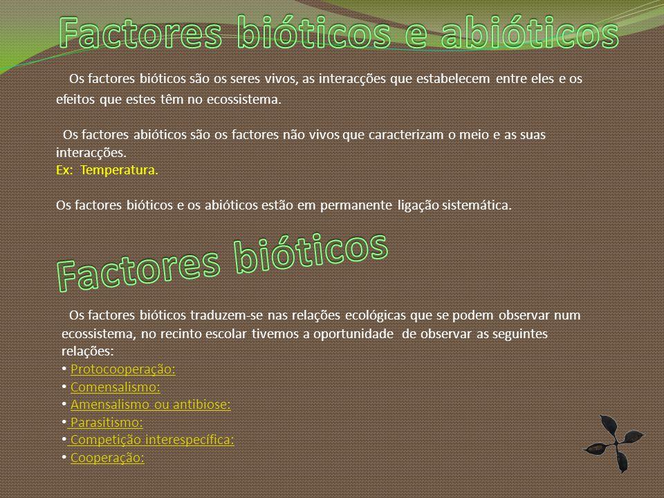 Factores bióticos e abióticos