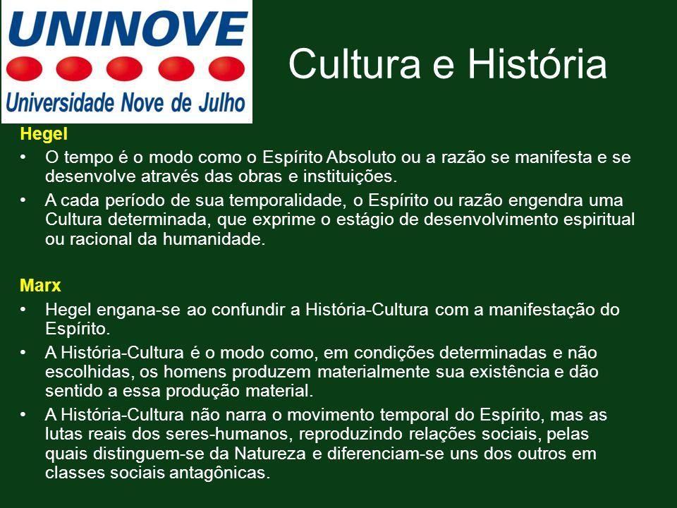 Cultura e História Hegel