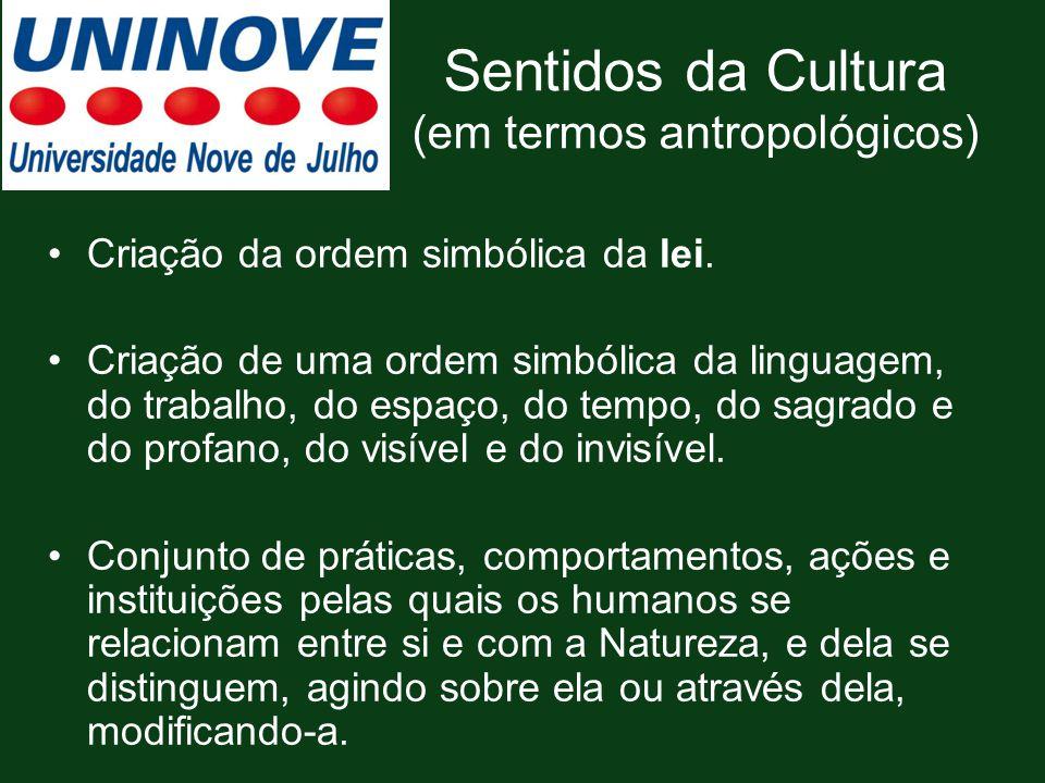 Sentidos da Cultura (em termos antropológicos)