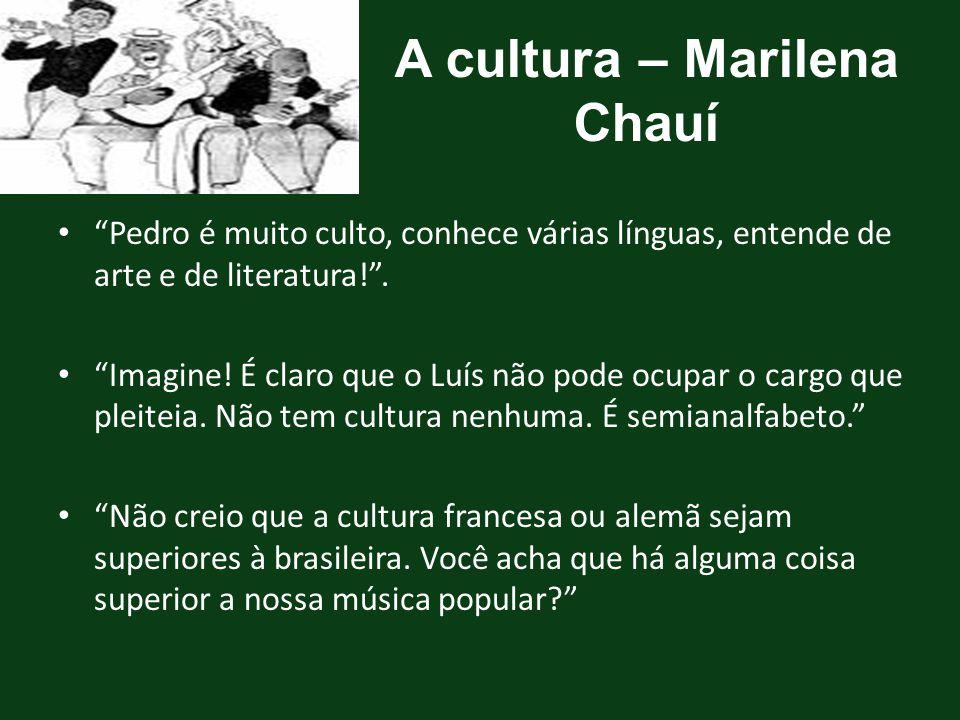 A cultura – Marilena Chauí