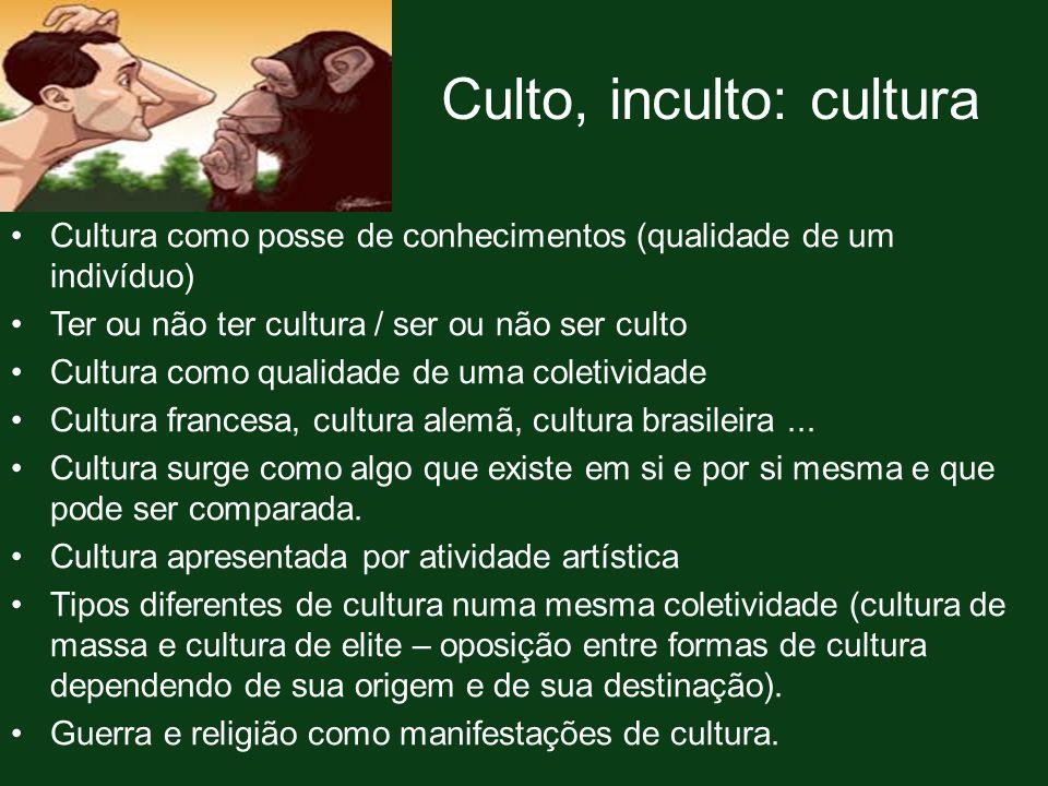 Culto, inculto: cultura