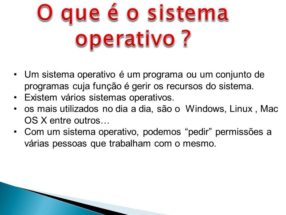 O que é o sistema operativo