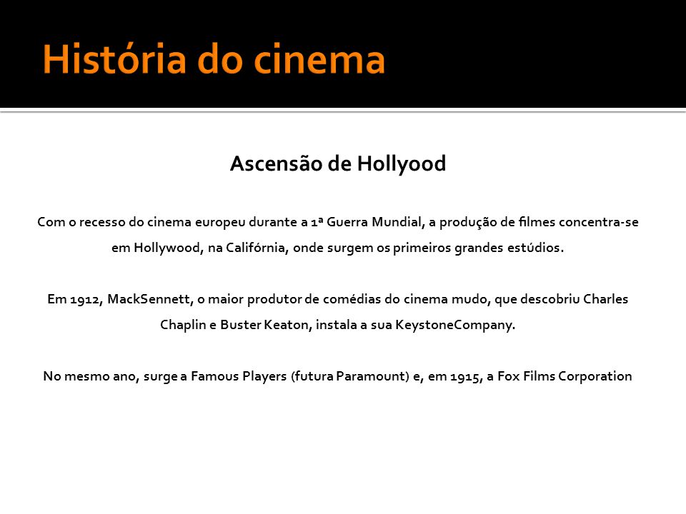 História do cinema Ascensão de Hollyood
