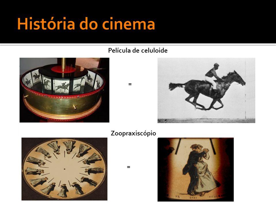 História do cinema Película de celuloide = Zoopraxiscópio