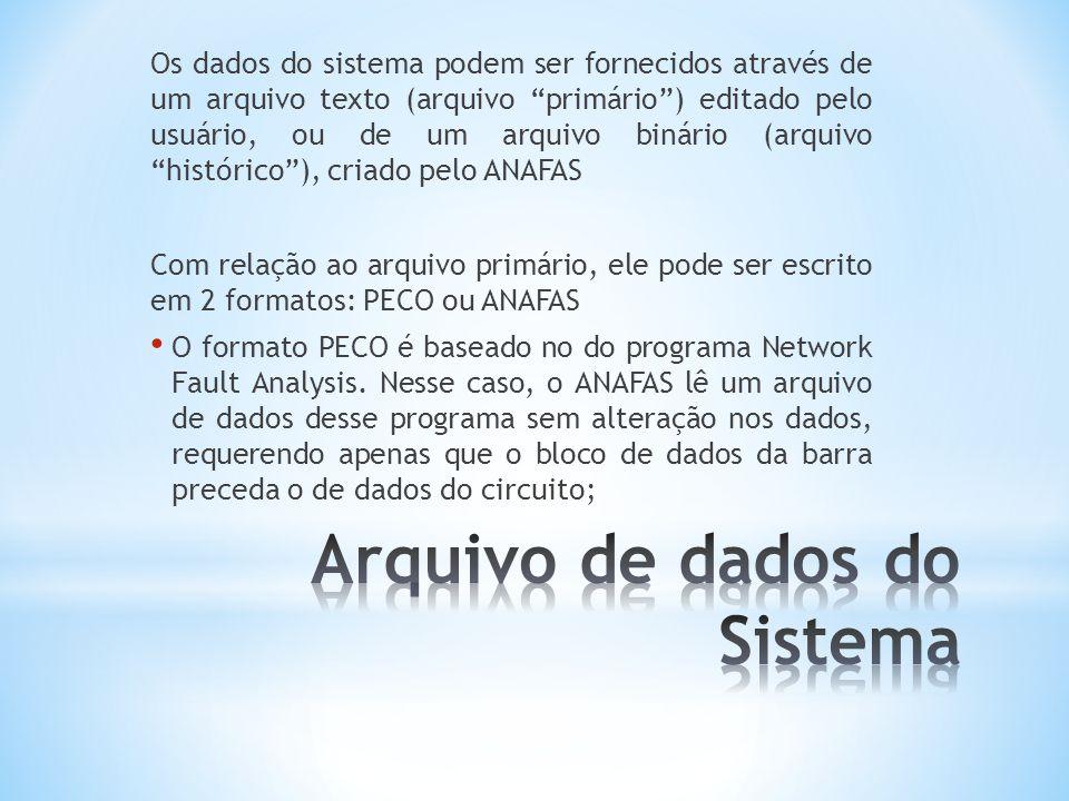 Arquivo de dados do Sistema