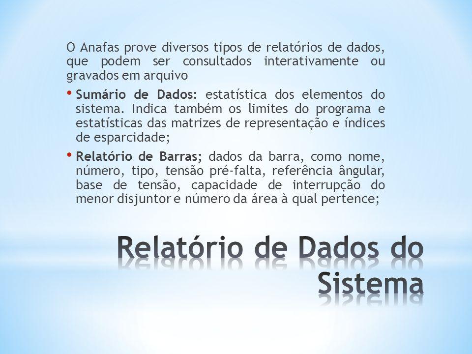 Relatório de Dados do Sistema