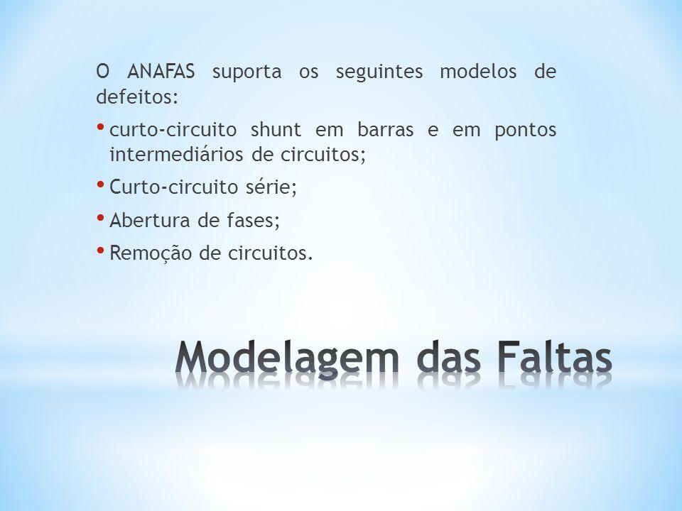 O ANAFAS suporta os seguintes modelos de defeitos:
