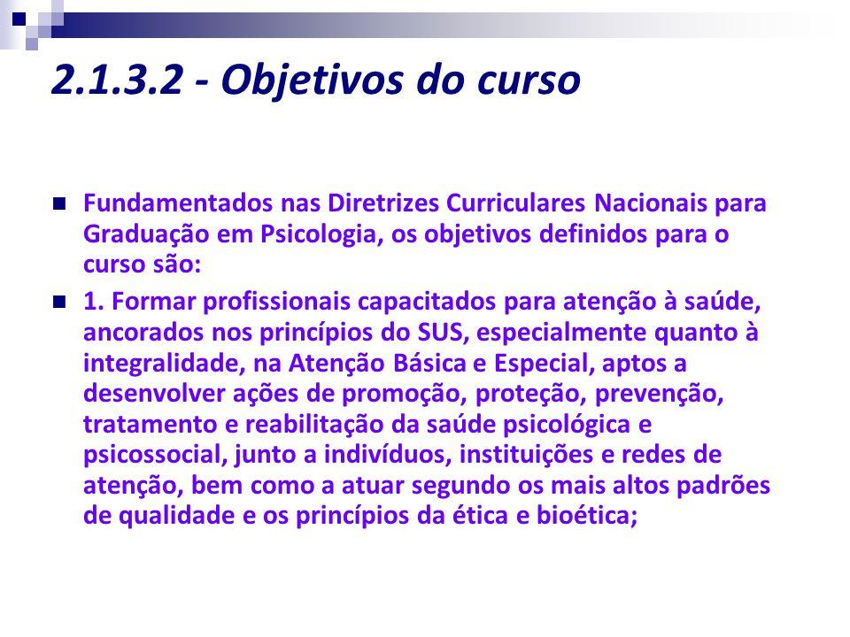2.1.3.2 - Objetivos do curso