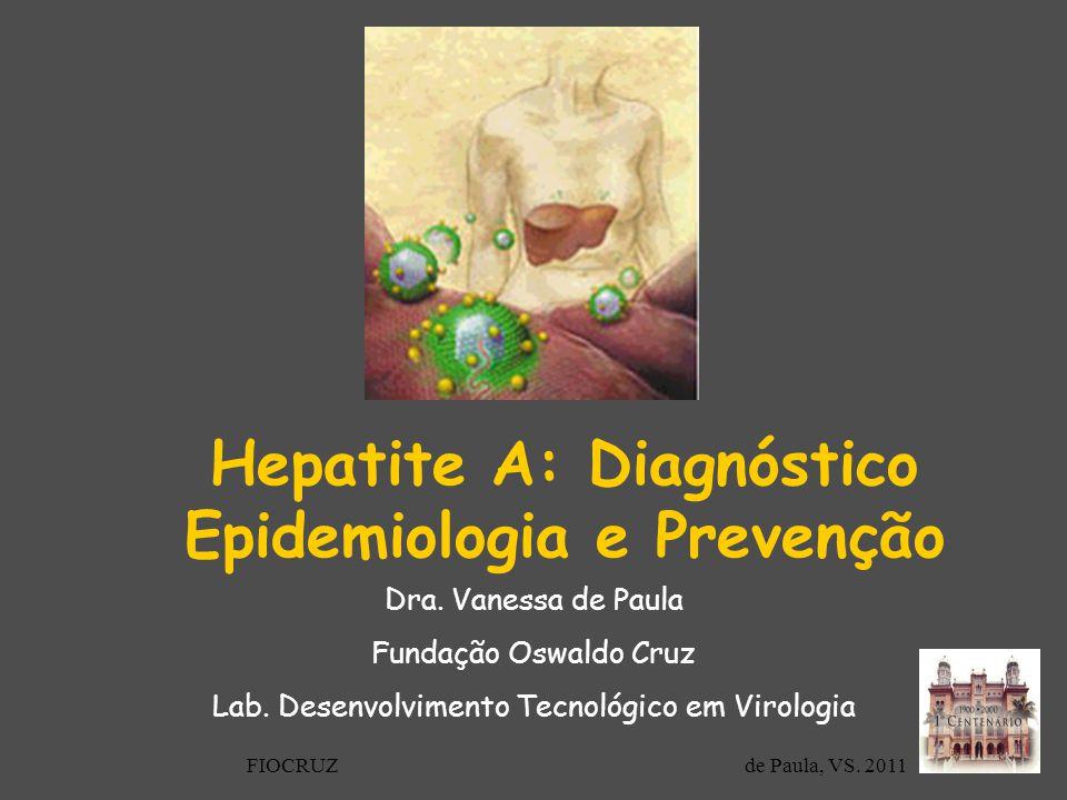 Hepatite A: Diagnóstico Epidemiologia e Prevenção