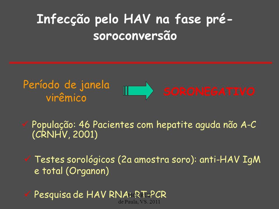 Infecção pelo HAV na fase pré-soroconversão