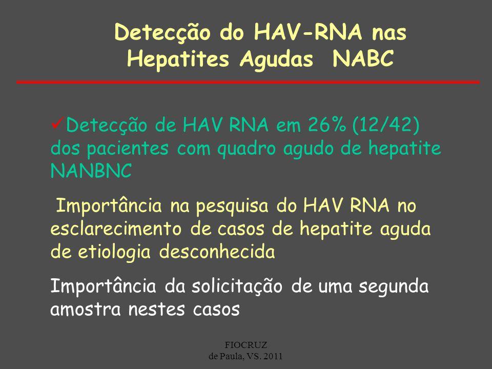 Detecção do HAV-RNA nas Hepatites Agudas NABC