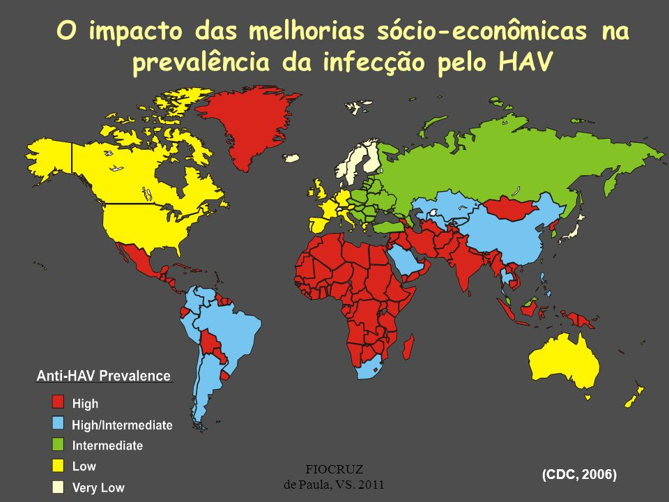 O impacto das melhorias sócio-econômicas na prevalência da infecção pelo HAV