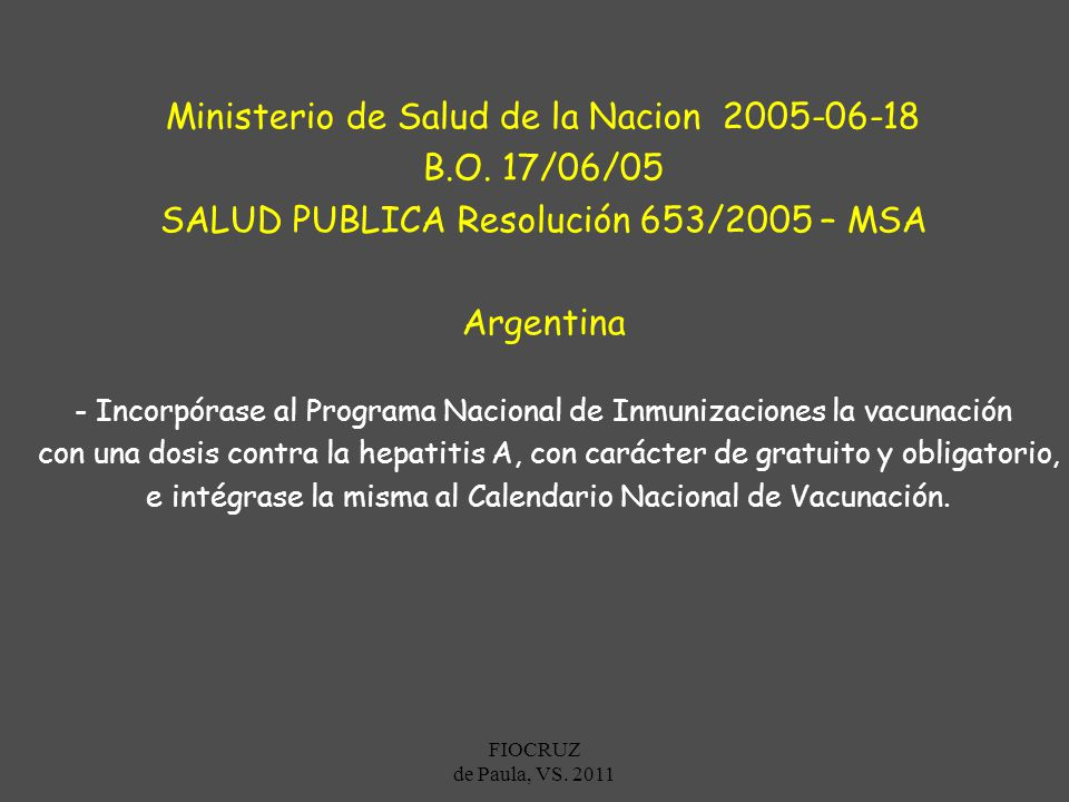 Ministerio de Salud de la Nacion 2005-06-18 B.O. 17/06/05