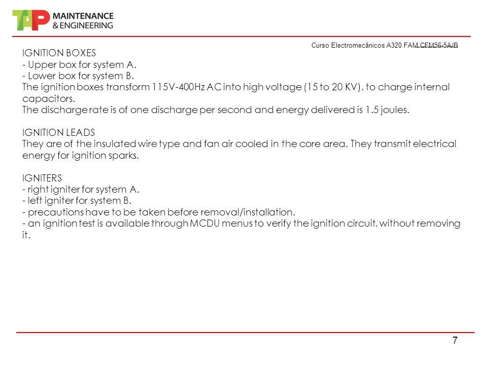 Curso Electromecânicos A320 FAM CFM56-5A/B