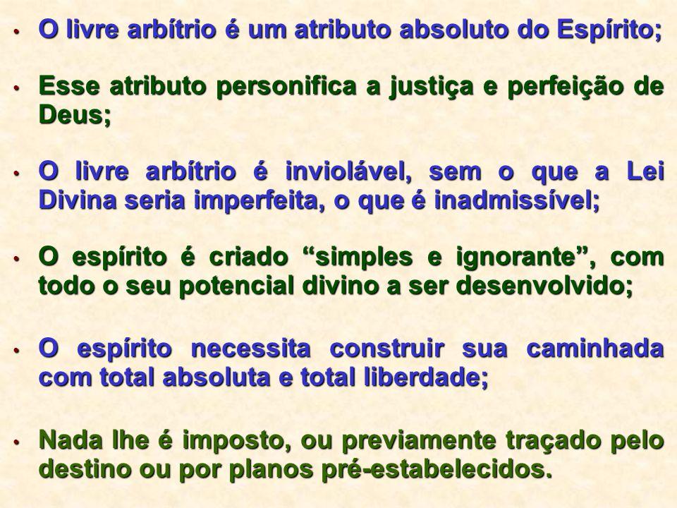 O livre arbítrio é um atributo absoluto do Espírito;