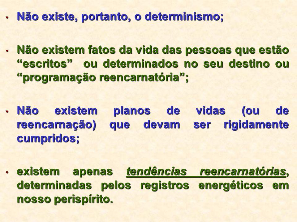 Não existe, portanto, o determinismo;
