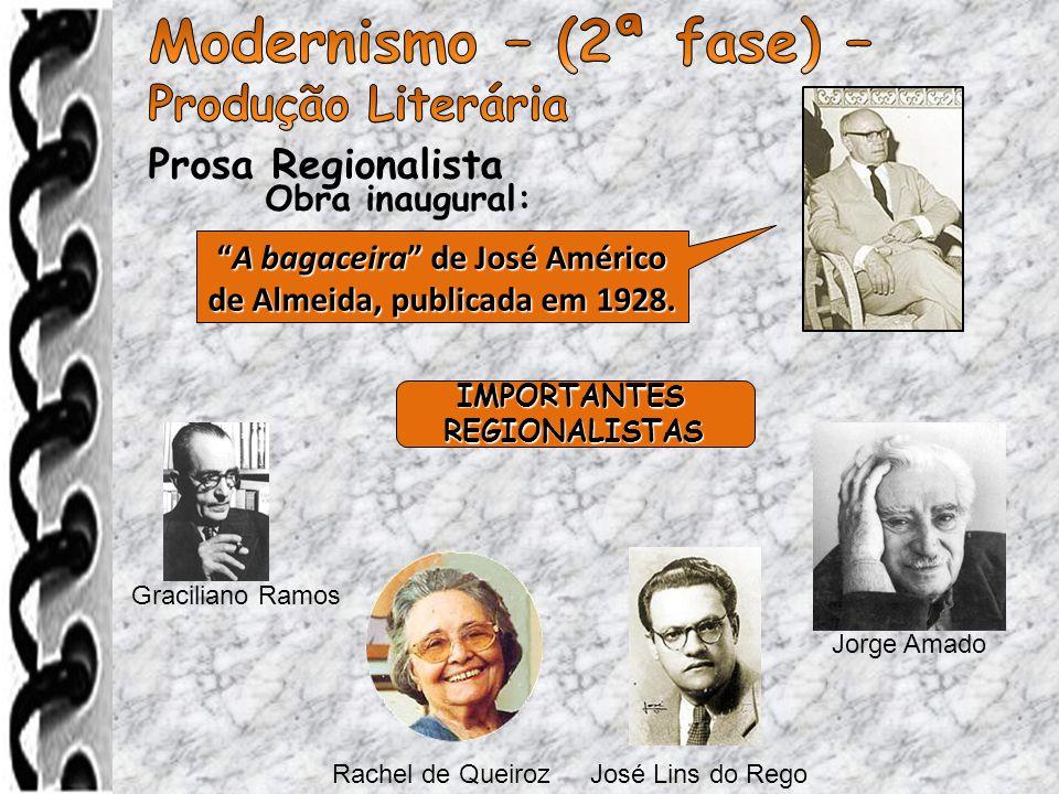 A bagaceira de José Américo de Almeida, publicada em 1928.