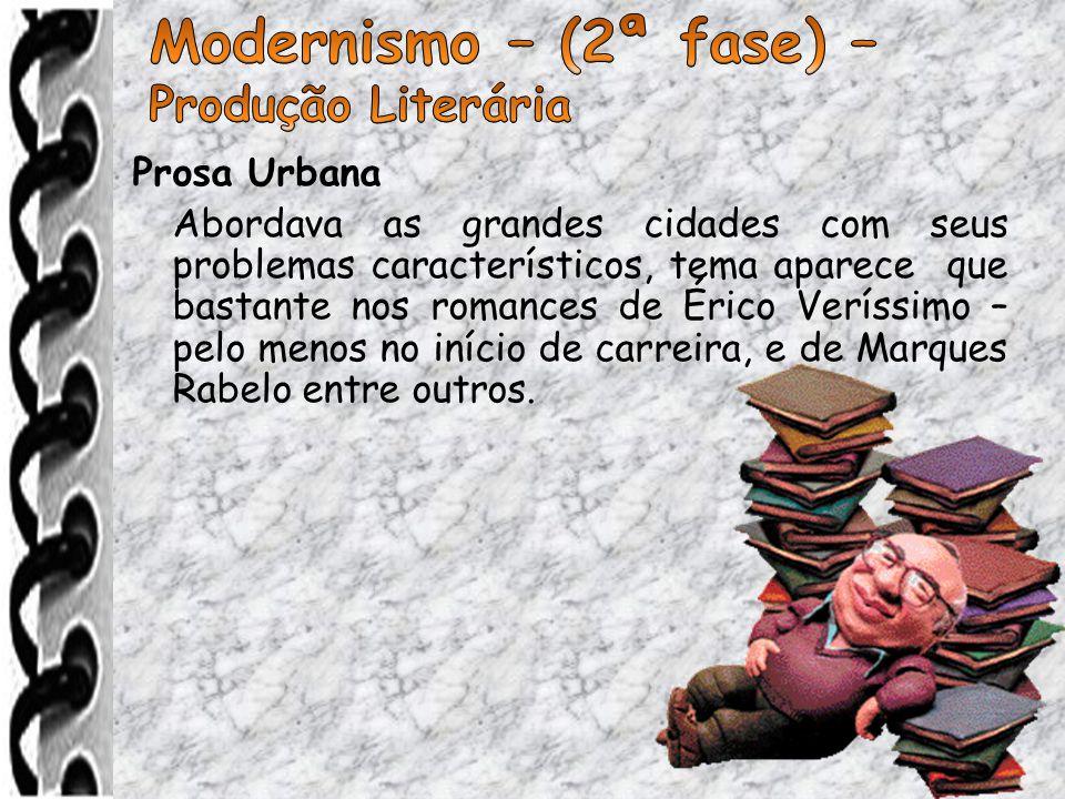 Modernismo – (2ª fase) – Produção Literária Prosa Urbana