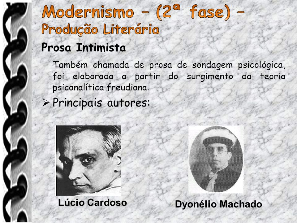 Modernismo – (2ª fase) – Produção Literária Prosa Intimista